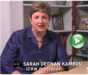 A Message From ICRW President Sarah Degnan Kambou